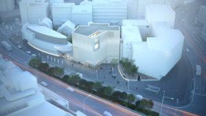 Neubau Stadtmuseum Oldenburg Visualisierung Ansicht Straße
