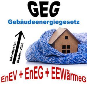 EnEV + EnEG + EEWärmeG = GEG