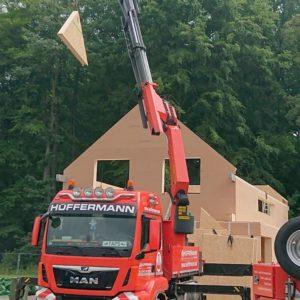 Aufstellung Holzrahmenbau